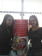 Danielle Souza (recuperadora premiada equipe Itaú PJ - Fábrica II) e Gilmara Martins (coordenadora equipe Itaú PJ - Fábrica II)