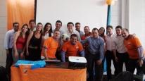 Gestores Itaú e Localcred-Brascobra no evento de lançamento da campanha
