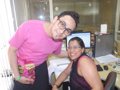 Victor Ribeiro (Marketing) e Gislaine Araújo (Auditoria Matriz)