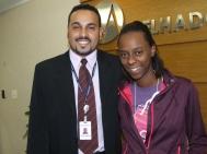 Thiago Henrique (Analista de Treinamento) e Monalisa Cristina Mori (recuperadora SPA7 participante do projeto)