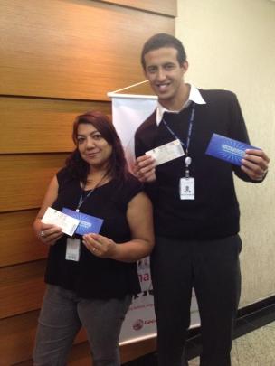 Janete de Oliveira e Welison de Lima Rodrigues (recuperadores contemplados equipe São Paulo 4)
