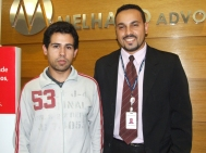 Tiago Ferreira dos Santos (recuperador SPA7 participante do projeto) e Thiago Henrique (Analista de Treinamento)