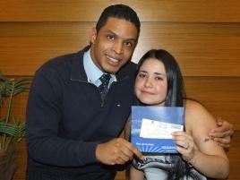 Guilherme Jeronimo (coordenador São Paulo 1) e Débora (recuperadora contemplada equipe São Paulo 1)