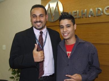 Henrique Siqueira (recuperador SPA7 participante do projeto) e Thiago Henrique (Analista de Treinamento)