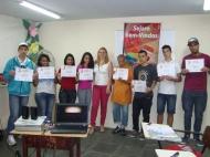 Priscilla Abreu (Analista de Treinamento e Desenvolvimento) e participantes dos dias 13 e 14/05