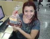 Renata Ferreira (premiada com o Desafio de Páscoa) na equipe BV Telecobrança na Matriz