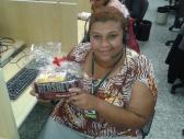 Rosangela Perreira (premiada com o Desafio de Páscoa) na equipe BV Telecobrança na Matriz