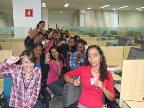 Equipe BV Telecobrança (manhã) na Páscoa da Matriz