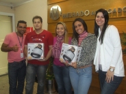 Arthur (coordenador SPA7), Fabiano (contemplado SPA7), Thais (coordenadora SPA7), Yasmin (contemplada SPA7) e Mayra (supervisora SPA7)
