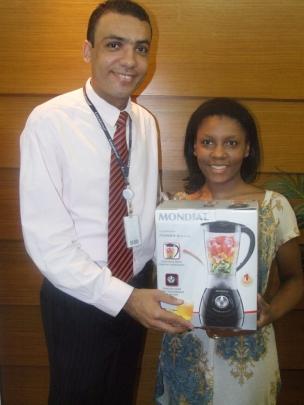 Dhiego Souza (coordenador SPA1) e Roberia Rodrigues (contemplada SPA1)