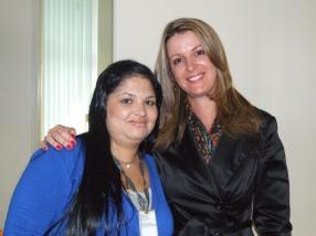 Camila M. (craque turno manhã) e Gisele Custódio (Gerente Operacional Sênior)