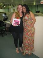 Charlene Teresa (recuperadora premiada filial Vitória) e Nailubia Silvano (coordenadora filial Vitória)