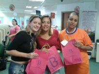 Christiane Flores, Denise Gomes e Regiane Soares (recuperadoras premiadas Itaucred Demais Regiões - Fábrica II)