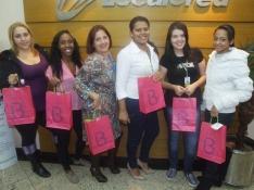 Thais Lucena, Bruna Gonçalves, Giane Gabria, Erica Silva, Natalia Stefani e Daiane Rodrigues (premiadas filial São Paulo 6)