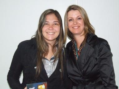 Luiza (craque turno manhã) e Gisele Custódio (Gerente Operacional Sênior)