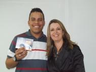 Fernando (craque turno manhã) e Gisele Custódio (Gerente Operacional Sênior)