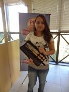 """Inglith Damaris de Araújo (recuperadora contemplada com """"kit torcedor"""" e """"kit churrasco"""" filial Curitiba)"""