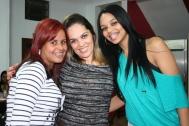 Danielle e Thais (recuperadoras Rede PJ) e Mara Martins (coordenadora Rede PJ)