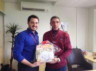 André Machado (gerente filial Curitiba) e Lauro Mello (recuperadora premiada filial Curitiba)