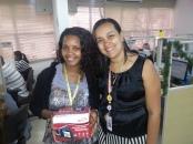 Iasmin Santos (recuperadora premiada) e Adriana Oliveira (supervisora da filial)
