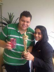 Gilson Gabriel (estrela filial Curitiba) e Lucimara Camargo (supervisora filial Curitiba)