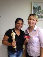 Kelly Cristina Prestes (estrela da filial Curitiba) e Solange Gabrieli (coordenadora filial Curitiba)