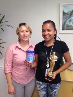Solange Gabrieli (coordenadora filial Curitiba) e Marcia Regina Neves (estrela da filial Curitiba)
