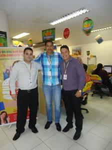 Edinaldo Barbosa (Coordenador), Valter Rodrigues (Recuperador de Crédito Elogiado) e Ramon Santana (Monitor de Qualidade)