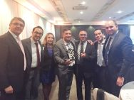 Da esquerda para a direita: Laurent Delache, Victor Ribeiro, Cristiane Guaranha, Alexandre Rodrigues, Marcos Bongianni,Diego Carvalho e Helder Cavalcanti
